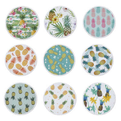 9 serviettes de plages motif ananas