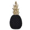 ananas deco noir et or en céramique