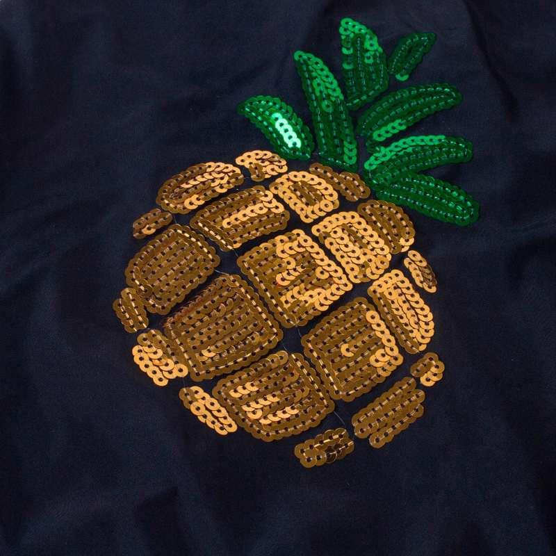 zoom sur paillettes maillot de bain ananas fille doré