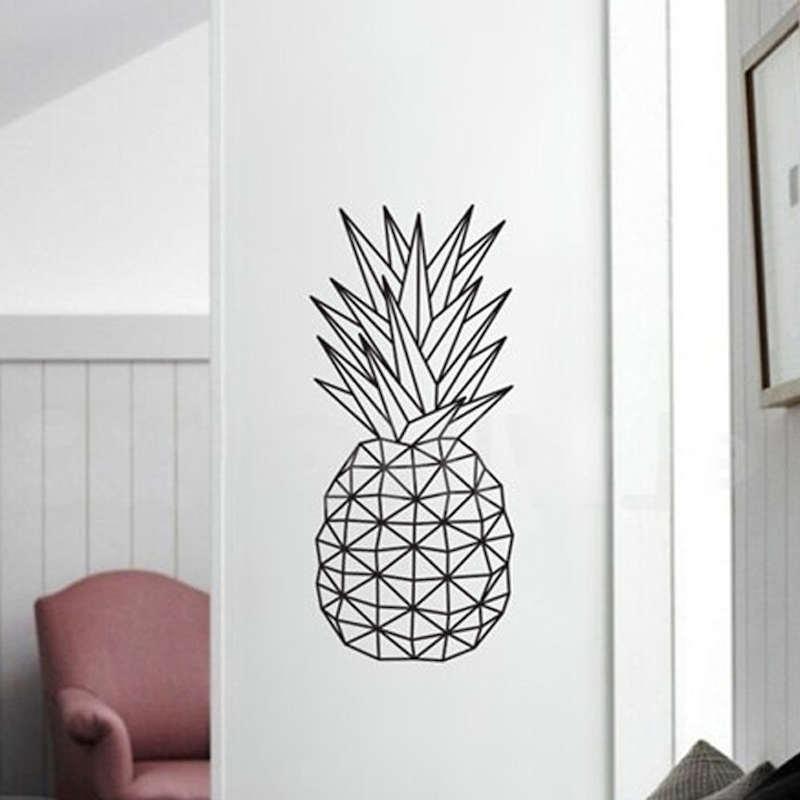 autocollant mural ananas géométrique