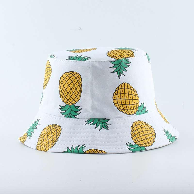 bob motifs ananas blanc