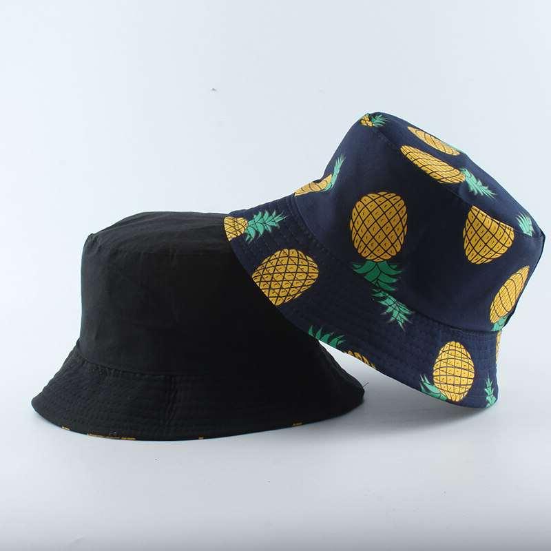 bob motif ananas bleu