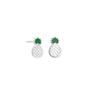 Boucles d'oreilles Ananas <br>Géométriques en Argent