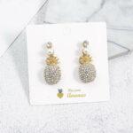 Boucles d' oreilles Ananas <br>Mille Perles