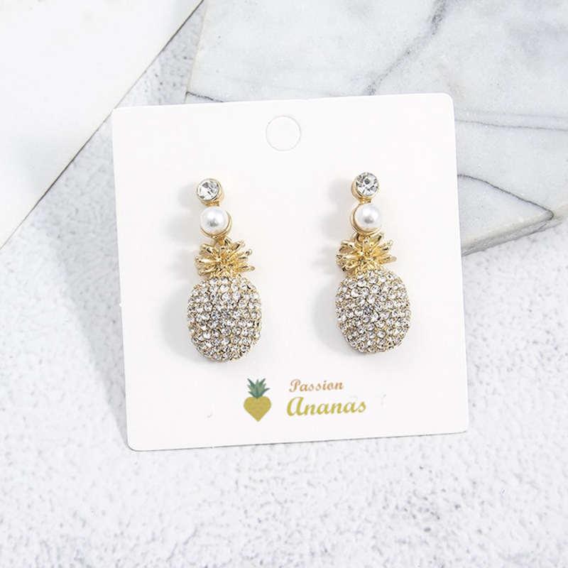 boucles d'oreilles ananas mille perles