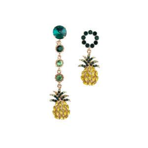 Boucles d'oreilles Ananas <br>Pendantes Asymétriques
