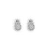 boucle d' oreilles plaqué argent avec pierres (faux diamants ou zircon / zirconium)