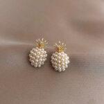 Boucles d' oreilles Ananas <br>Perles de Fruit