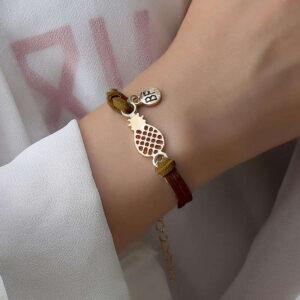 Bracelet d'Amitié Ananas Marron
