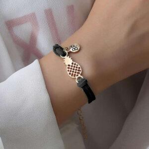 Bracelet d'Amitié Ananas Noir