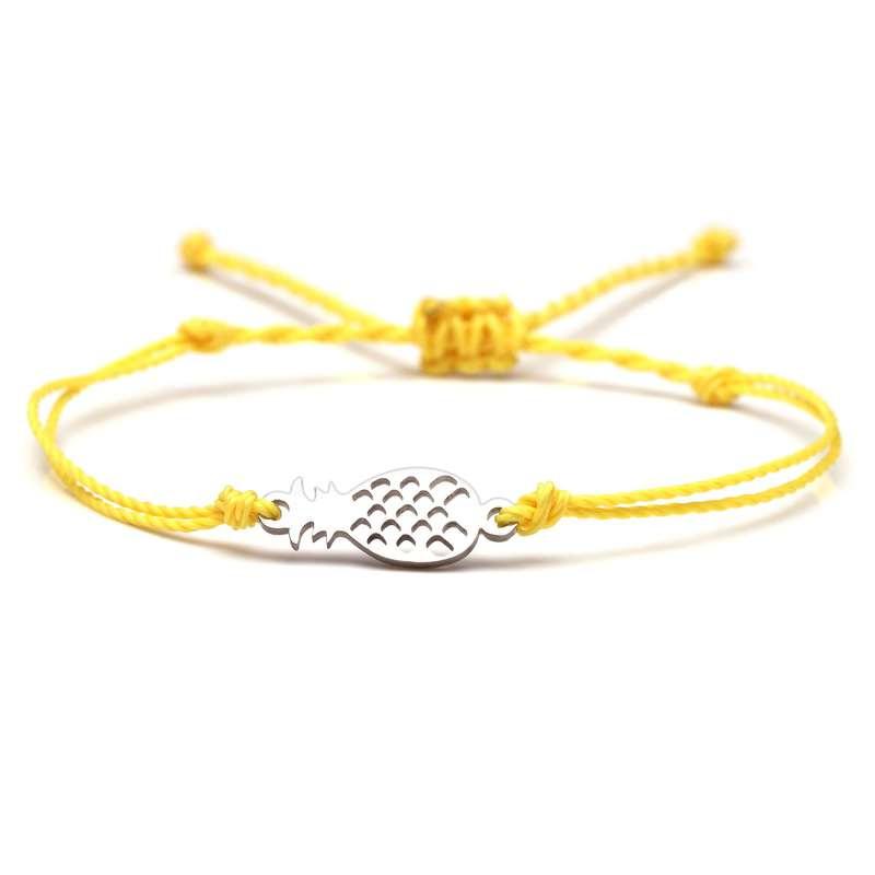 bracelet ananas cordon jaune