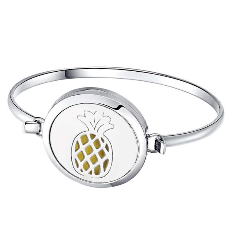 bracelet diffuseur d'huile essentielle en forme d'ananas