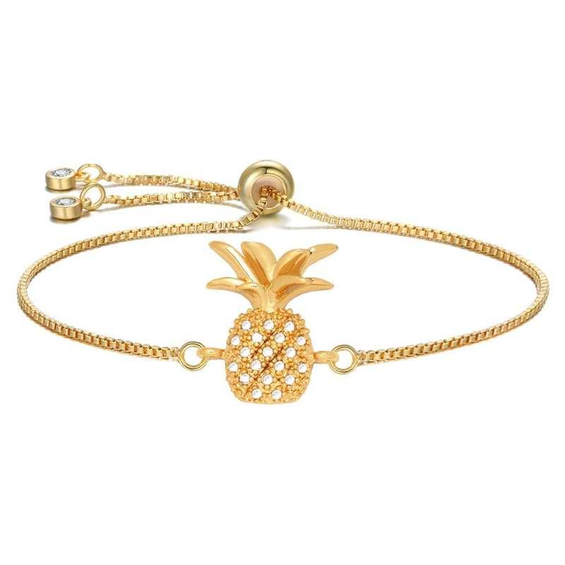 bracelet ananas cordon or