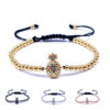 bracelet ananas perles doré