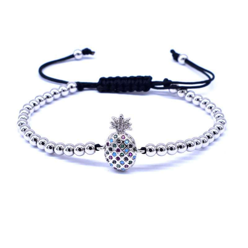 bracelet ananas perles acier