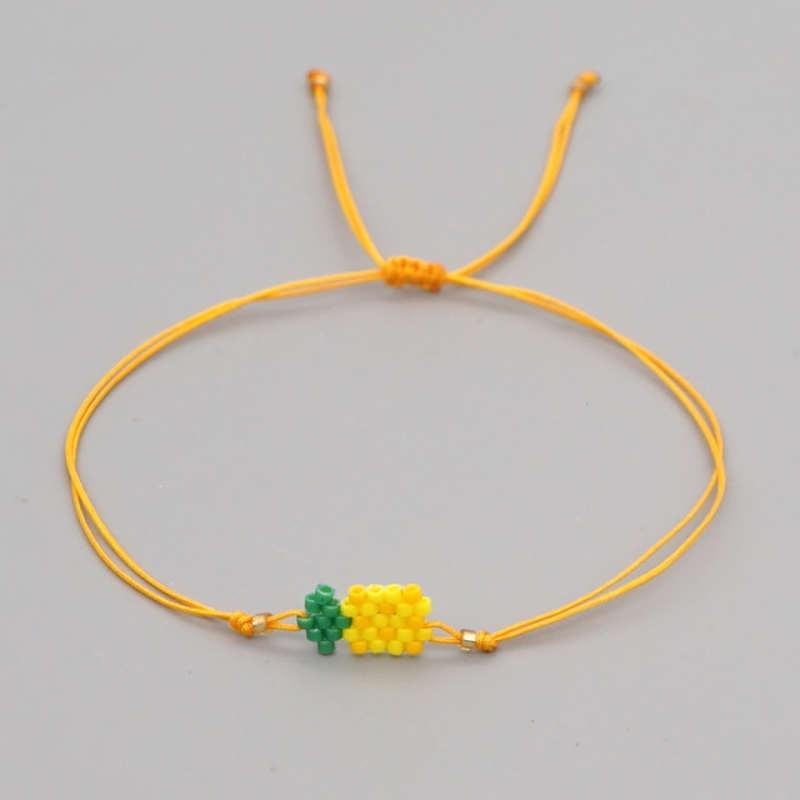 bracelet ananas perles miyuki jaune