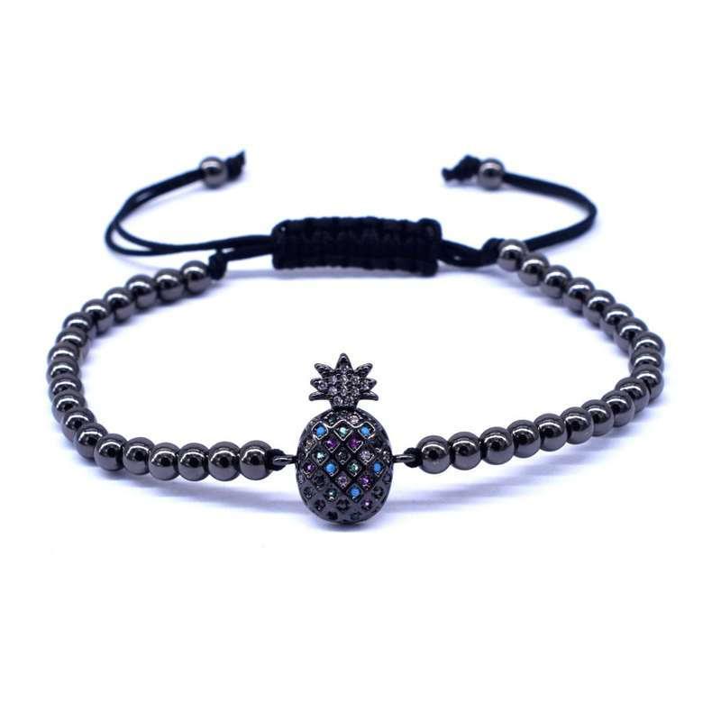 bracelet ananas perles noir