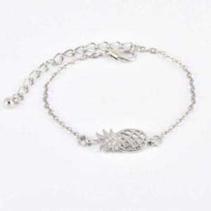 Bracelet Ananas <br>Plumeaux et Cauris