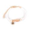bracelet d'amitié ananas en cuir blanc et or bf