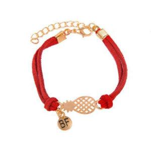 Bracelet d'Amitié Ananas Rouge