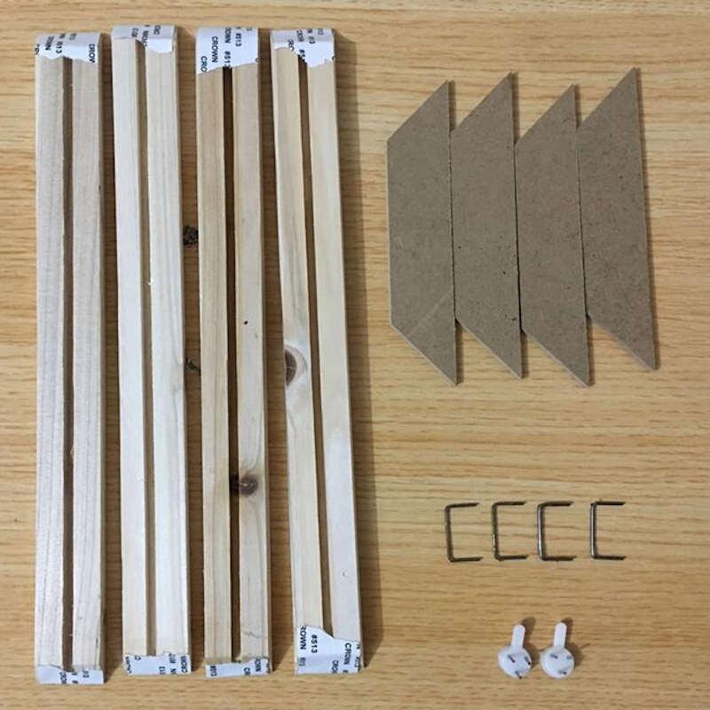 détails cadre en bois pour toile