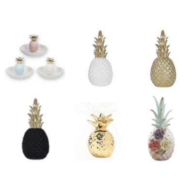 catégorie céramique et résine avec 6 sculpture et statues à l'effigie de l'ananas