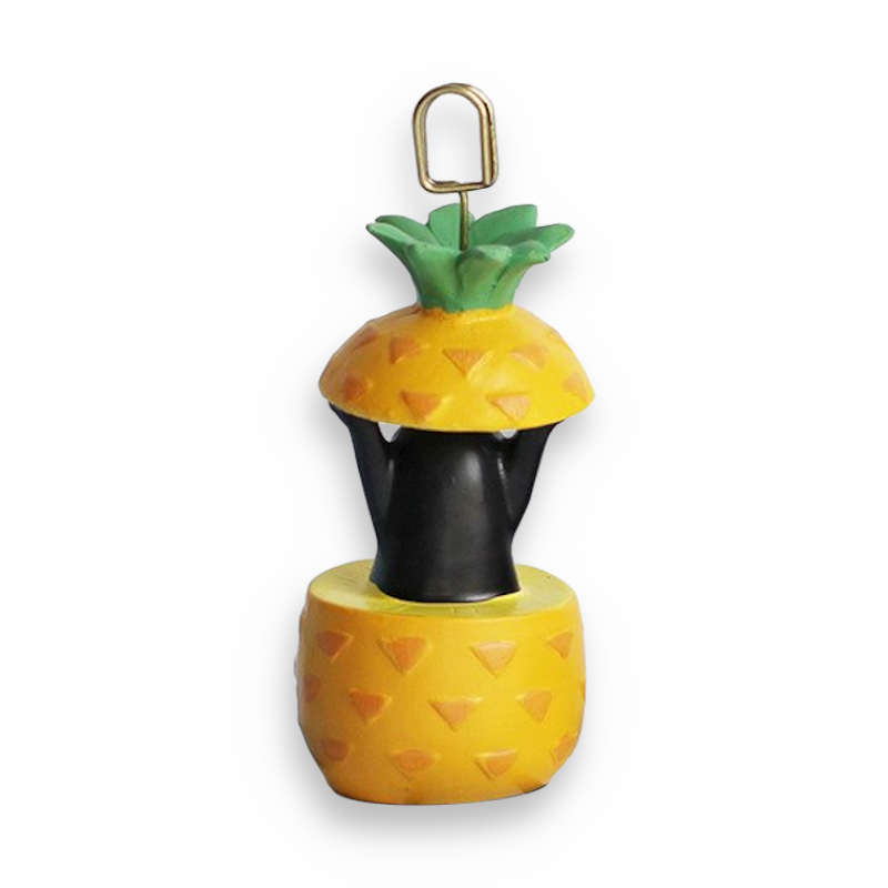déco ananas, clip photo ananas, porte photo avec un pingouin vu de dos