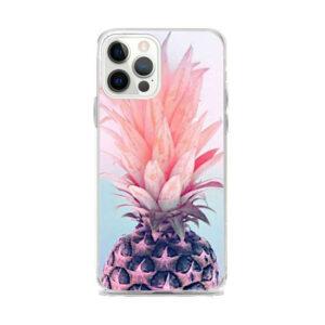 Coque Ananas iPhone Demi Fruit Rose