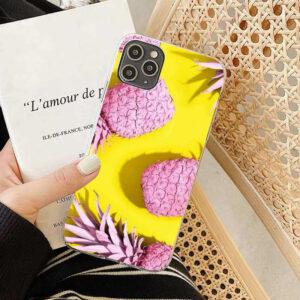 Coque Ananas Rose et Jaune iPhone