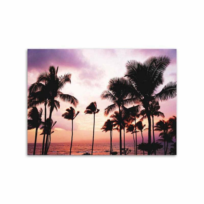 tableau ananas coucher de soleil