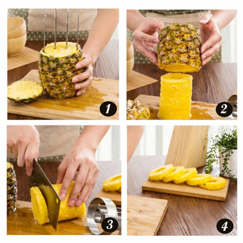 coupeur éplucheur ananas en acier