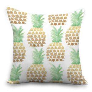 Taie d'oreiller 45×45 Ananas Peinture à l'eau