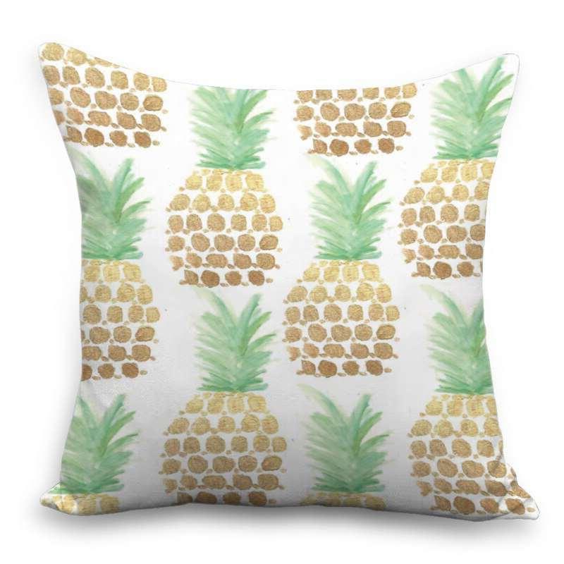 coussin ananas motif style peinture à l'eau