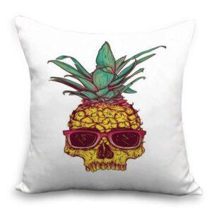 Taie d'oreiller 45×45 Ananas Tête de Mort