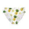 culotte ananas blanche extensible couture invisible imprimée d'ananas entiers et de rondelles