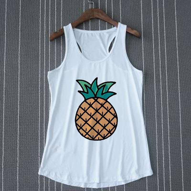 débardeur motif ananas pour femme style icone sur cintre