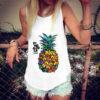 débardeur motif ananas multicolore pour femme porté par un modèle