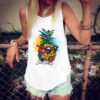 """debardeur ananas pour femme a lunette inscription """"sun beach"""""""