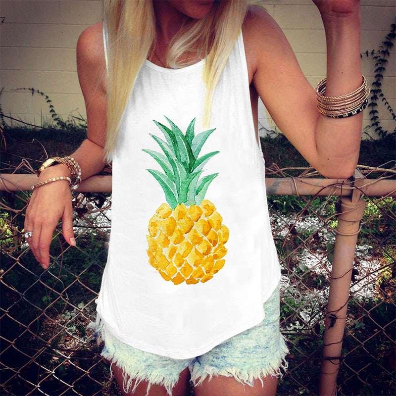 débardeur motif ananas victoria pour femme