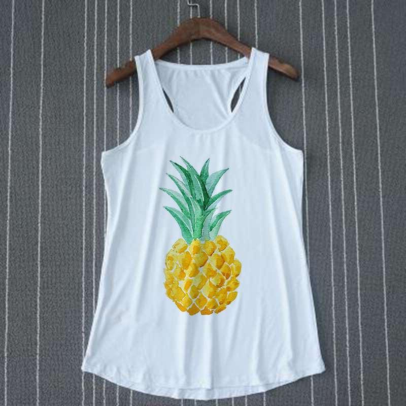 débardeur motif ananas victoria pour femme sur cintre