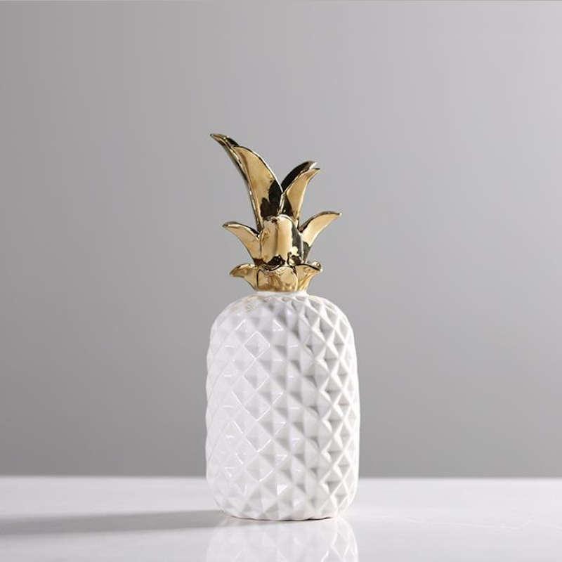 déco ananas doré et blanc scandinave