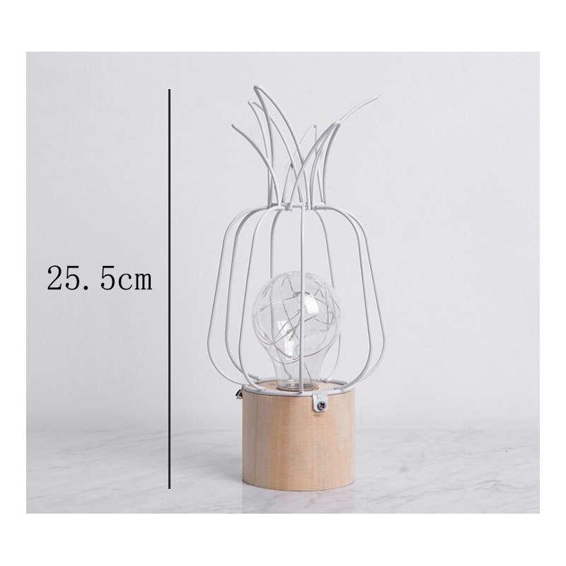 lampe led ananas bois et métal blanche dimensions