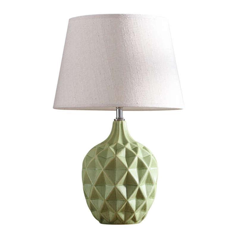 lampe céramique ananas scandinave verte