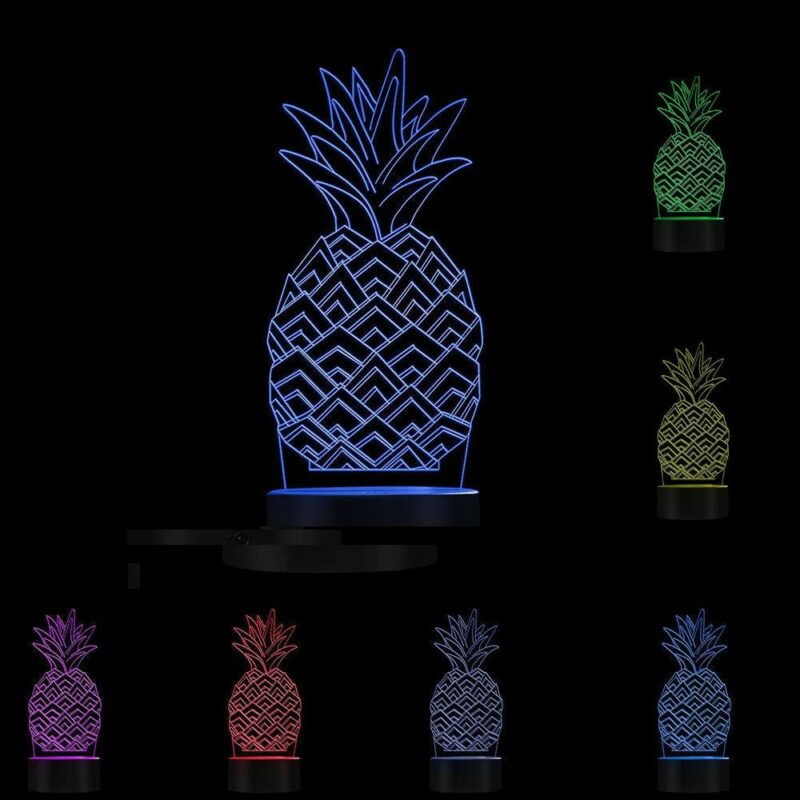 lampe ananas multicolore toutes les couleurs