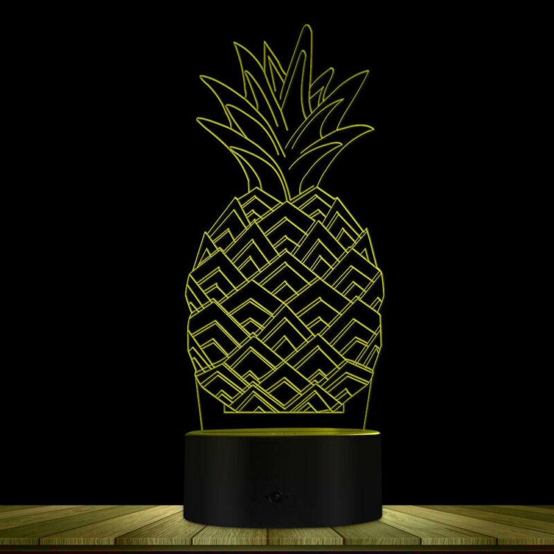 lampe ananas multicolore jaune