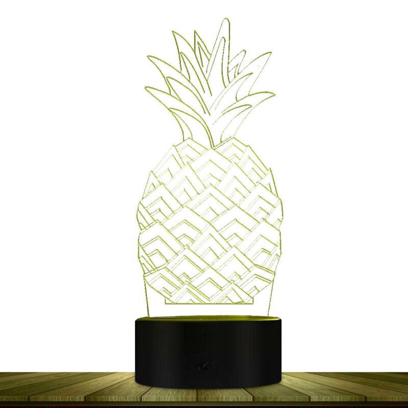 lampe ananas 3D multicolore