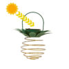 lanterne ananas solaire en spirale