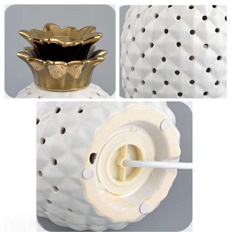 lampe ananas ceramique or et dorée scandinave détails