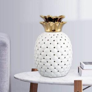 Lampe ananas en céramique