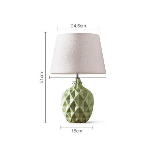 lampe à pied céramique ananas scandinave dimensions
